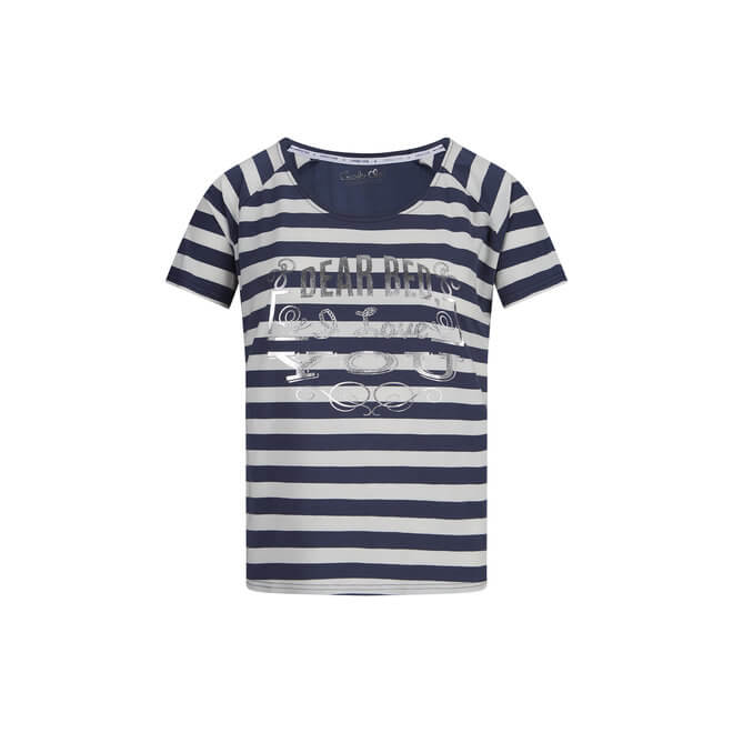 38C-35154 NAVY OFF WHITE STRIE